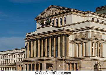 Warsaw, Poland - National Opera House and National Theatre...