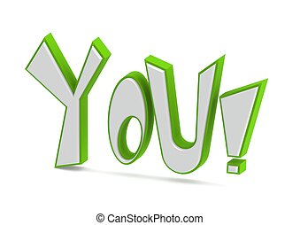 You - Rendered artwork with white background