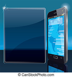 Modern Smart Phone - Background with Modern Smart Phone