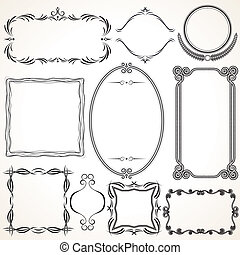 Ornamental Frames Vector Design Elements