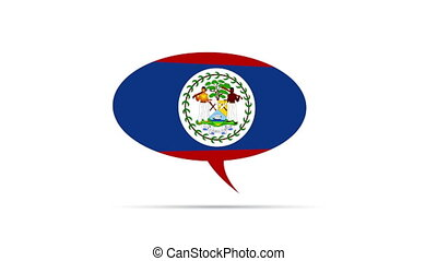 Belize Flag - Spinning Belize Flag Speech Bubble