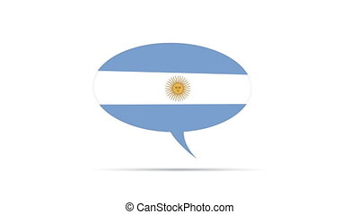 Argentina Flag - Spinning Argentina Flag Speech Bubble