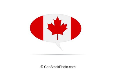 Canadian Flag - Spinning Canada Flag Speech Bubble