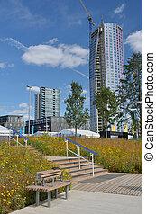 Modern urban high rise buildings