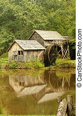 Mabry Mill 4 - Mabry Mill, a restored gristmill on the Blue...