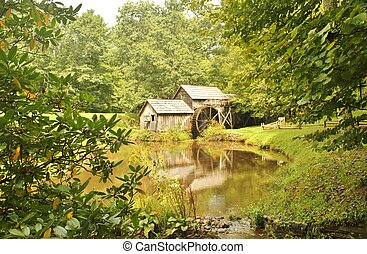 Mabry Mill 6 - Mabry Mill, a restored gristmill on the Blue...