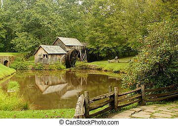 Mabry Mill 8 - Mabry Mill, a restored gristmill on the Blue...