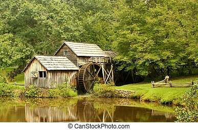 Mabry Mill 9 - Mabry Mill, a restored gristmill on the Blue...