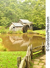 Mabry Mill 10 - Mabry Mill, a restored gristmill on the Blue...
