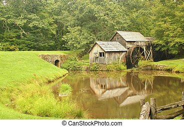 Mabry Mill 12 - Mabry Mill, a restored gristmill on the Blue...