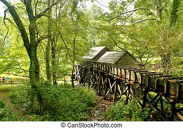 Mabry Mill R10 - Rear view of Mabry Mill, a restored...