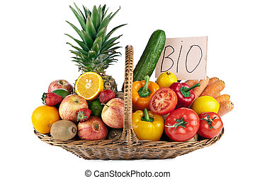 Fruits and Vegetables Arrangement colourful