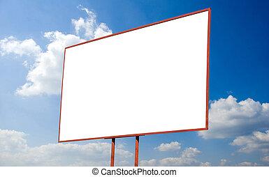 billboard - advertising billboard on background sky