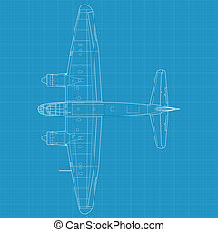 Junkers Ju 88 - High detailed vector illustration of old...