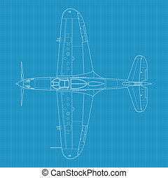 P39 aircobra - High detailed vector illustration of old...