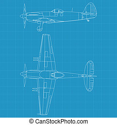 Supermarine Spiteful - high detailed vector illustration of...