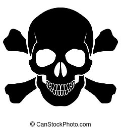 Skull and bones - a mark of the danger warning