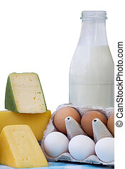 Fresh eggs, Cheese and Bottle Milk - Fresh eggs, Cheese and...