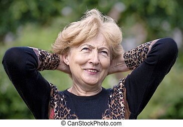 Youthful Senior Woman