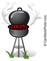 Barbeque - Illustration of barbecue isolated on white