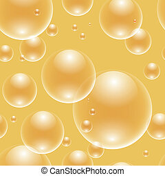 seamless bubbles over gold - EPS10 file. Vector seamless...