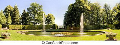 Baroque garden Lichtenwalde, Saxony