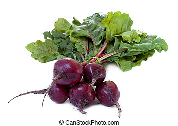 fresh bunch of beetroot - Bunch of Fresh red beets, isolated...