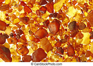 Amber from the Baltic Sea - Amber stones from the beach of...