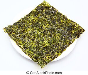 Large thin sheet of pressed seaweed pan fried in olive oil...