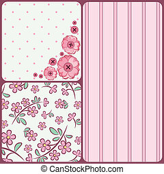 background with flowers - Vintage background with flowers...
