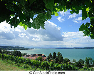 fantastic view over the Lake Constance near by Birnau