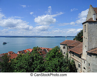 view to the Lake Constance in Meersburg, Germany