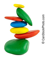 Colorfu Balancing stones - Balancing of Colorful pebbles....