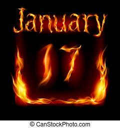 Calendar of Fire - Seventeenth January in Calendar of Fire...