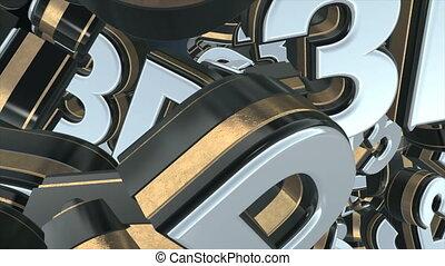 3d gold text