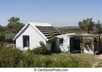 typical House of the Camargue,France
