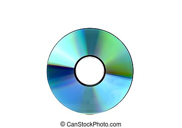 compact disc - a compact disc, isolated on white background