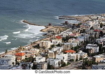 Travel Photos of Israel - Haifa - View of Haifa from the...