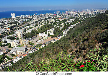 Travel Photos of Israel - Haifa - View of Haifa from the...