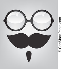 Funny mask sunglasses and mustache - Funny mask retro...