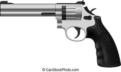 Revolver Illustration on white background for design