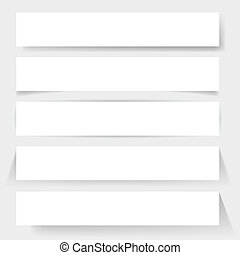 Paper board shadows Illustration for design on white...