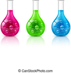 Test tube set on a white background Illustration for design