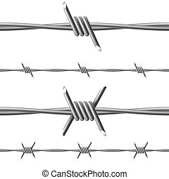 Barbed wire. Illustration on white background for design