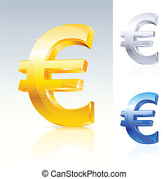Abstract euro sign. Illustration on white background for...