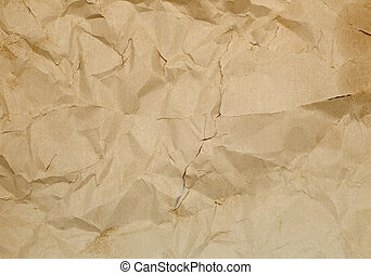 ancient wrinkled paper for background