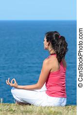 Zen yoga and sea