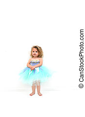 Ambition to Dance - Little girl dressed in a lovely lilac...
