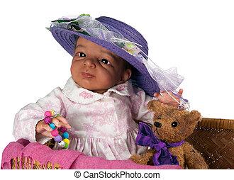 lindo, étnico, bebé