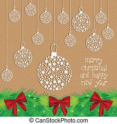 Christmas ball - Illustration Christmas ball made with...